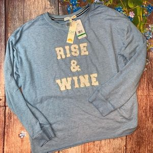 "NWT C&C California ""Rise and Wine"" Large Comfy Top"